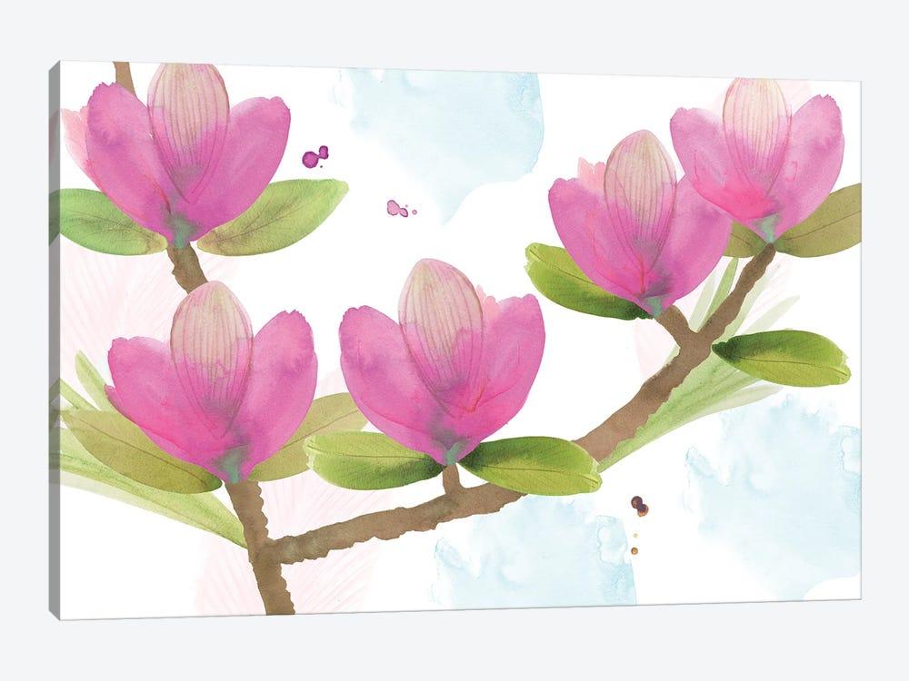 Pink Magnolia I by Flora Kouta 1-piece Canvas Print