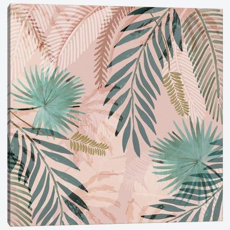 Vintage Palms I Canvas Print #FLK54} by Flora Kouta Canvas Art