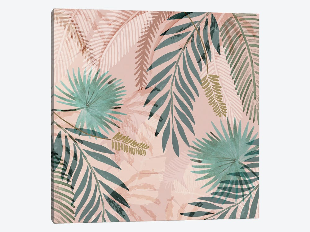 Vintage Palms I by Flora Kouta 1-piece Canvas Print