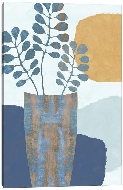 Indigo Yellow Still Life III Canvas Art Print