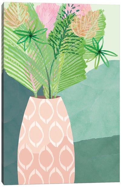 Colourful Palm Vase I Canvas Art Print