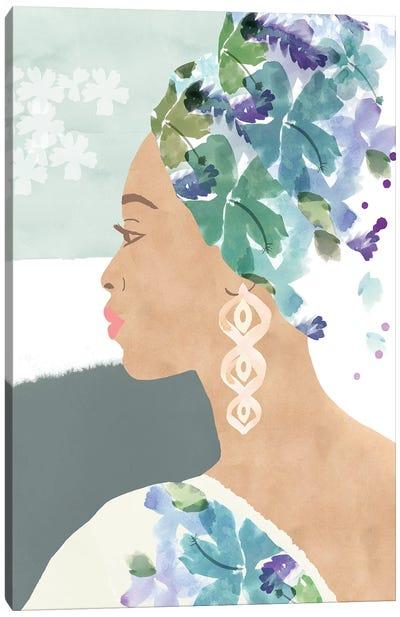 Ava In Bloom Canvas Art Print
