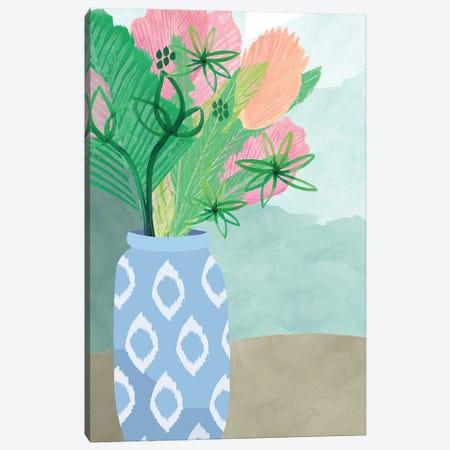 Colourful Palm Vase II Canvas Print #FLK6} by Flora Kouta Canvas Print