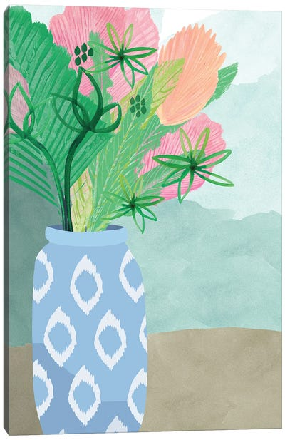 Colourful Palm Vase II Canvas Art Print