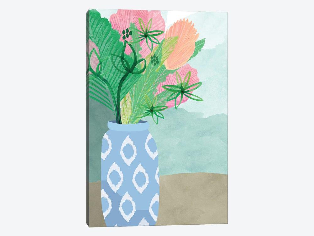 Colourful Palm Vase II by Flora Kouta 1-piece Canvas Wall Art