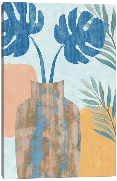 Indigo Yellow Still Life IV Canvas Art Print