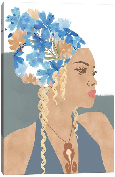 Maia In Bloom Canvas Art Print