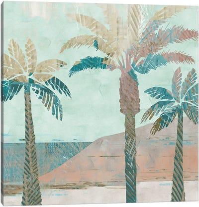 Retro Palms III Canvas Art Print