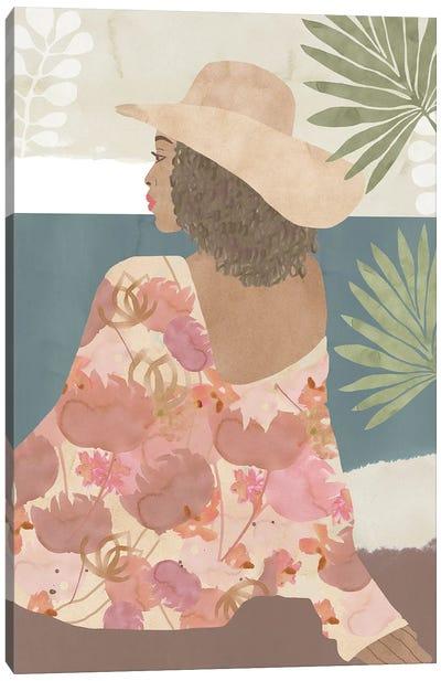 Terracotta Flower Lady I Canvas Art Print