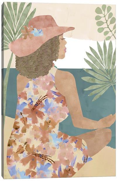 Terracotta Flower Lady II Canvas Art Print