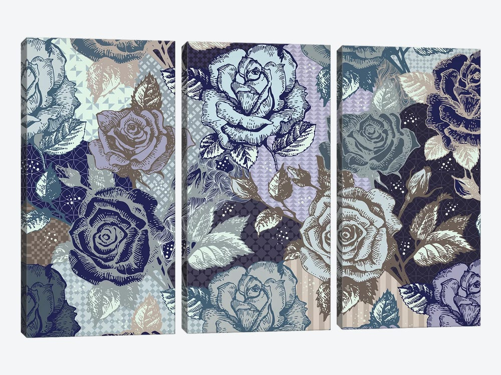 Roses & Patterns by 5by5collective 3-piece Canvas Art