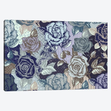 Roses & Patterns Canvas Print #FLPN105} by 5by5collective Canvas Art Print