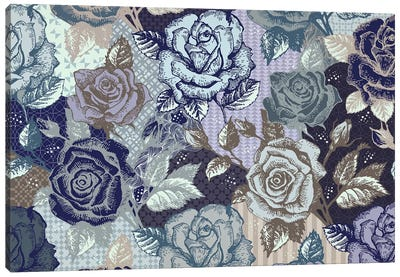 Roses & Patterns Canvas Art Print