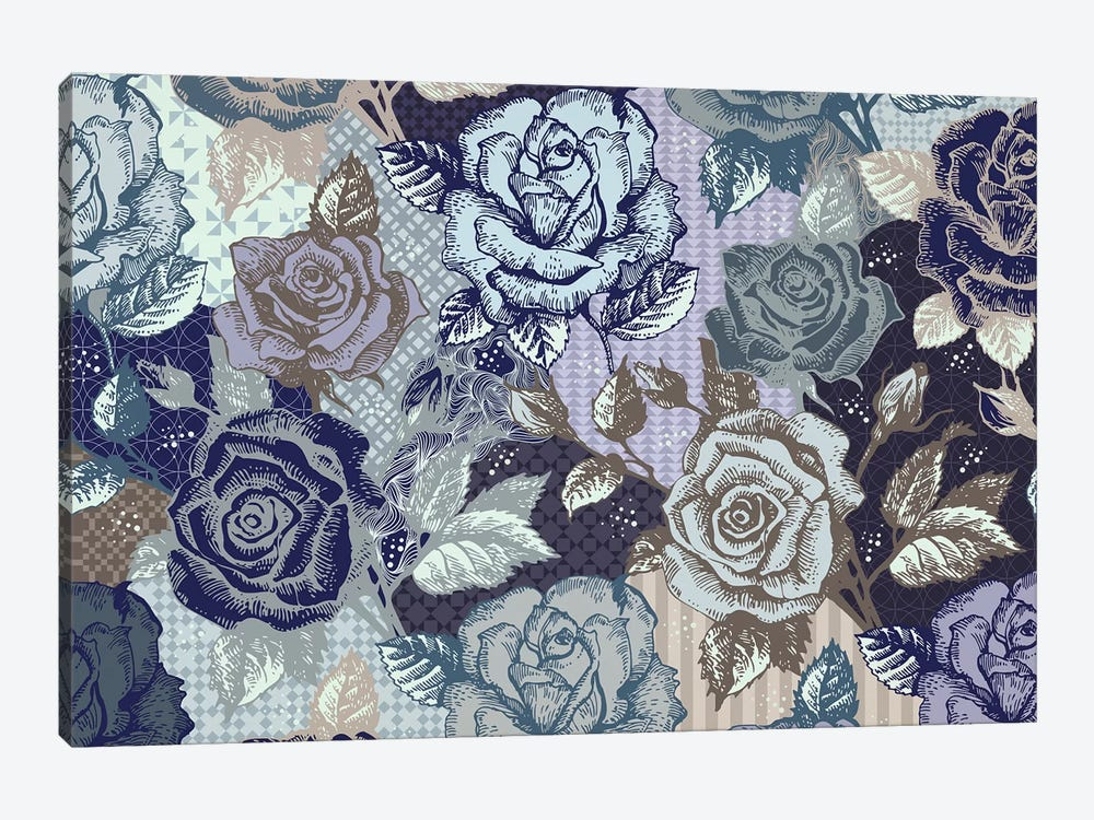 Roses & Patterns by 5by5collective 1-piece Canvas Wall Art