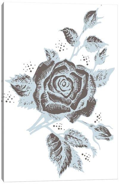 Rose (Brown&Gray) Canvas Print #FLPN106