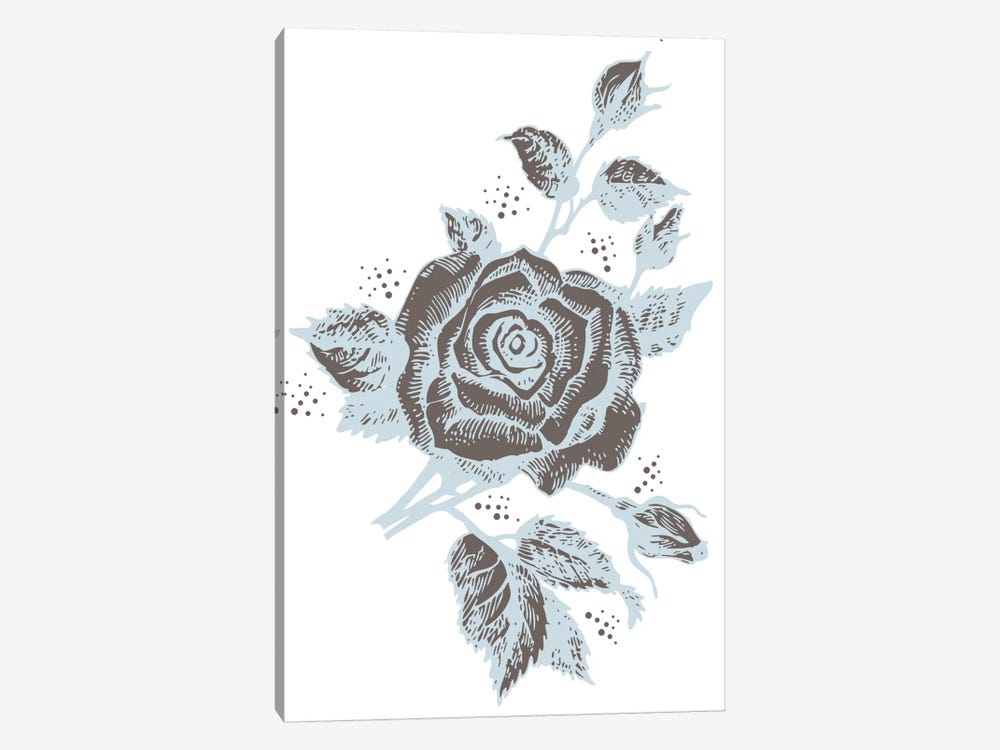 Rose (Brown&Gray) by 5by5collective 1-piece Art Print