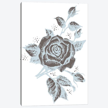 Rose (Brown&Gray) Canvas Print #FLPN106} by 5by5collective Canvas Art Print