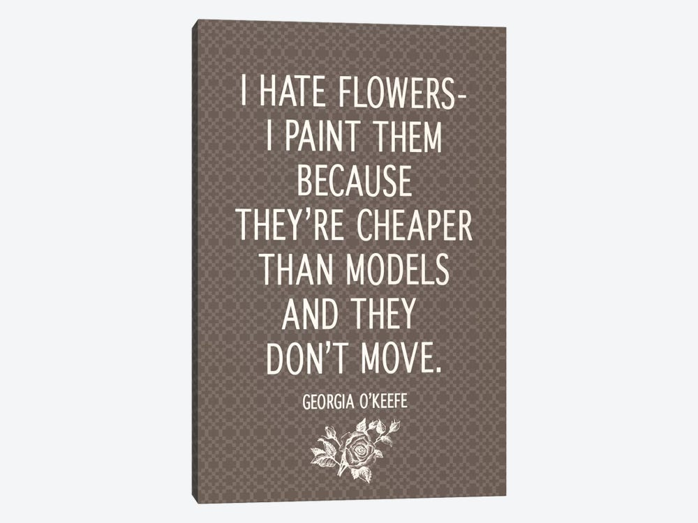 I Hate Flowers by 5by5collective 1-piece Art Print