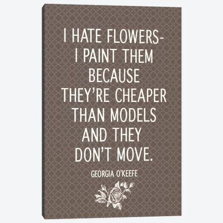 I Hate Flowers Canvas Print #FLPN108} by 5by5collective Canvas Wall Art