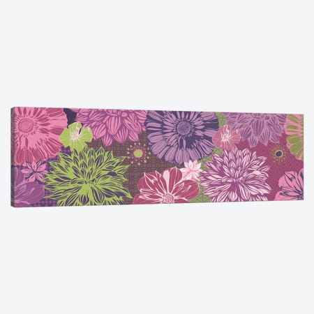 Flowers & Patterns (Green&Pink) Canvas Print #FLPN109} by 5by5collective Canvas Wall Art
