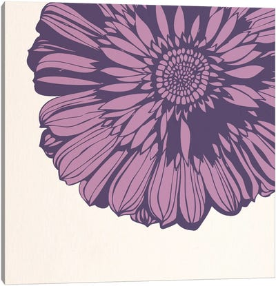 Flower (Pink) Canvas Art Print