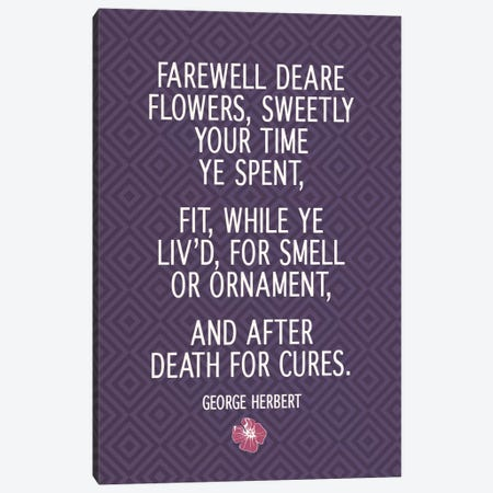 Farewell Flowers Canvas Print #FLPN112} by 5by5collective Canvas Art Print