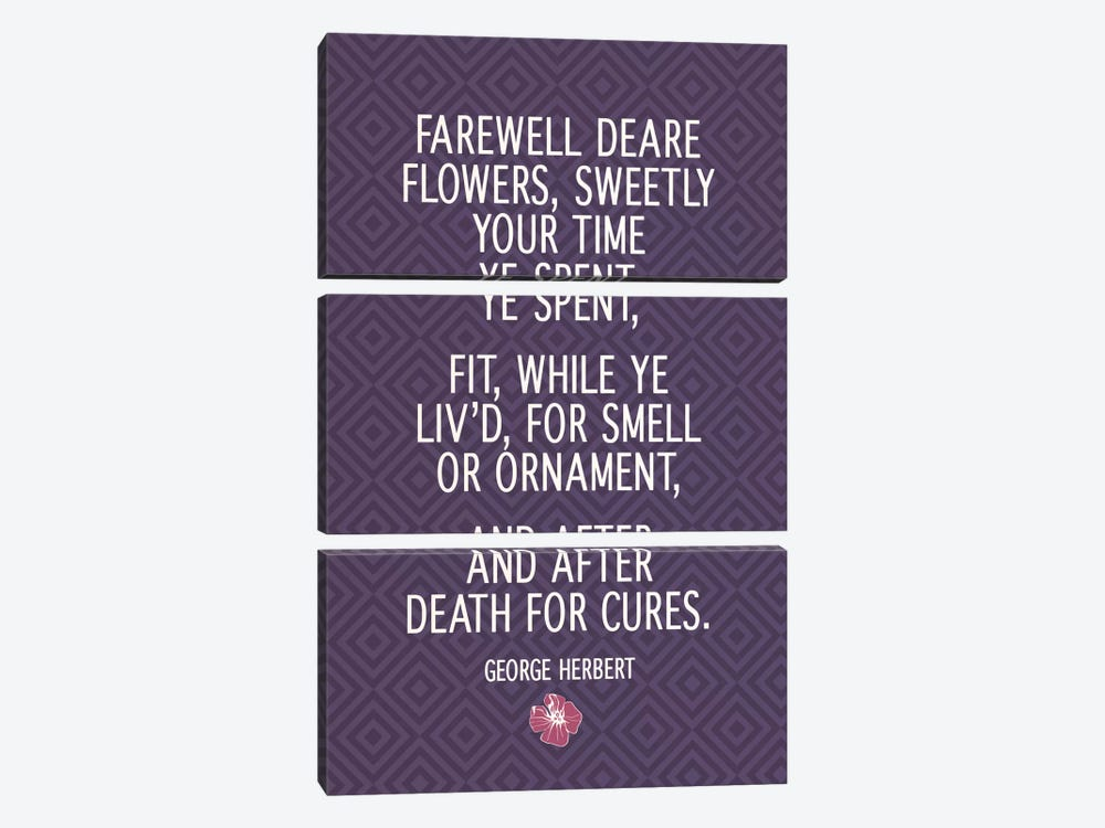 Farewell Flowers by 5by5collective 3-piece Canvas Art