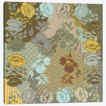 Flowers & Patterns (Multi-Colored) Canvas Print #FLPN113} by 5by5collective Canvas Art Print