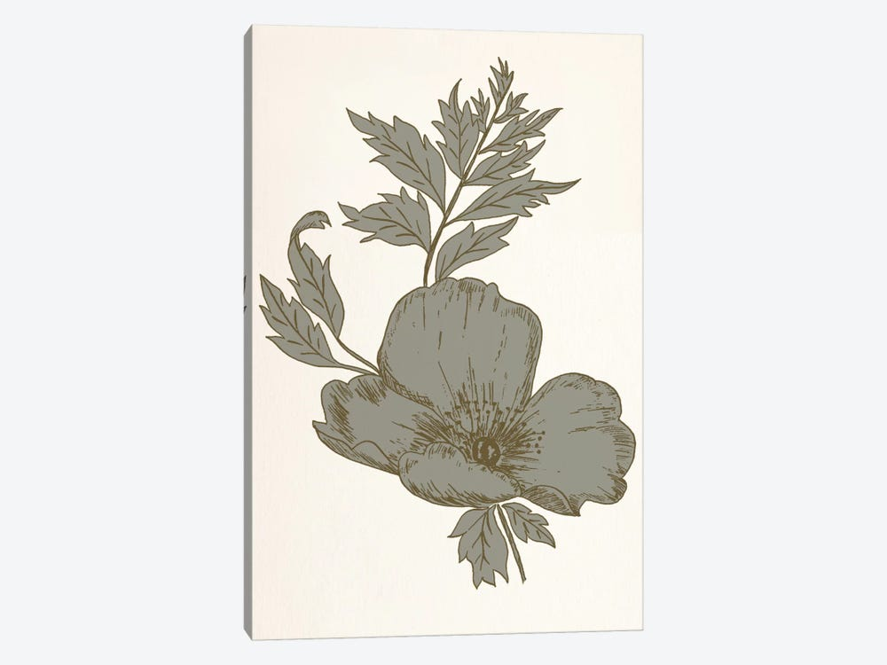Flower (Gray) by 5by5collective 1-piece Canvas Wall Art