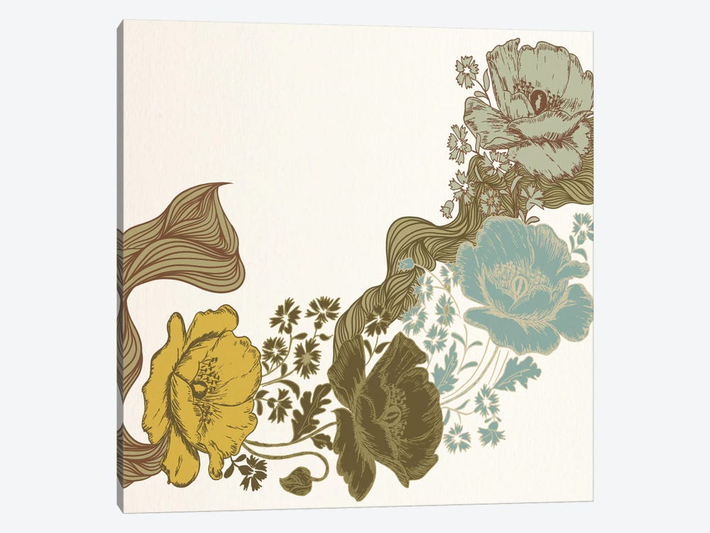 Multi-Colored Violets by 5by5collective 1-piece Art Print