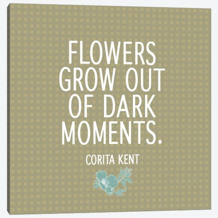 Flowers & Dark Moments Canvas Print #FLPN116} by 5by5collective Canvas Wall Art