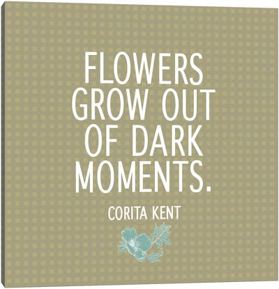 Flowers & Dark Moments Canvas Print #FLPN116