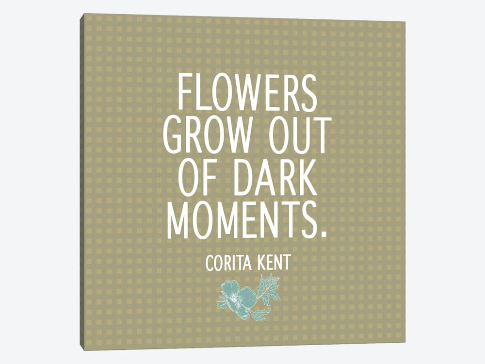 Flowers & Dark Moments by 5by5collective 1-piece Canvas Wall Art