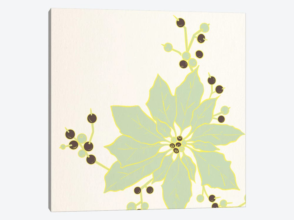 Flower & Berries by 5by5collective 1-piece Canvas Wall Art