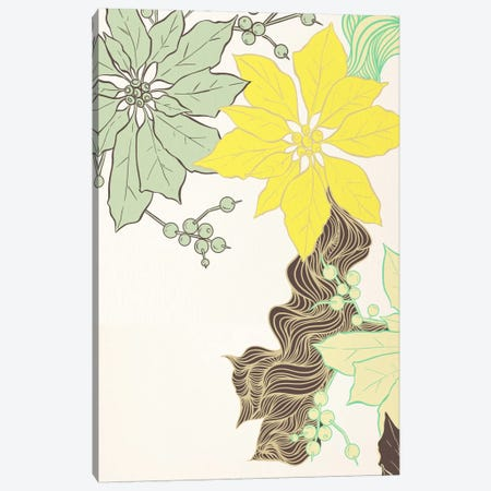 Floral Pattern (Green&Yellow) Canvas Print #FLPN119} by 5by5collective Canvas Art Print