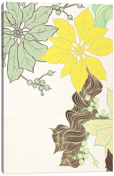 Floral Pattern (Green&Yellow) Canvas Art Print