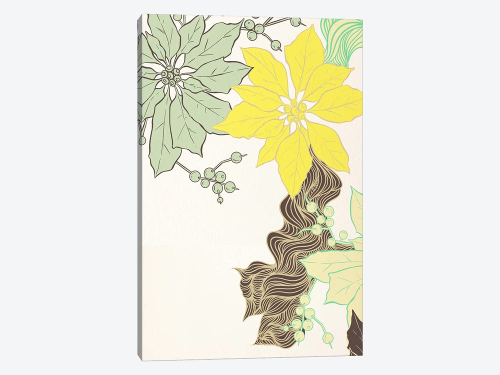 Floral Pattern (Green&Yellow) by 5by5collective 1-piece Art Print