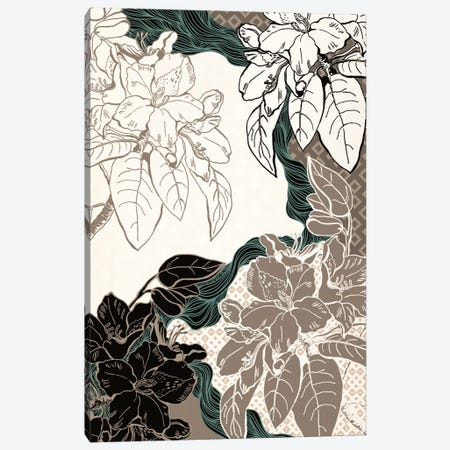 Floral Pattern (Four Colors) Canvas Print #FLPN121} by 5by5collective Canvas Artwork