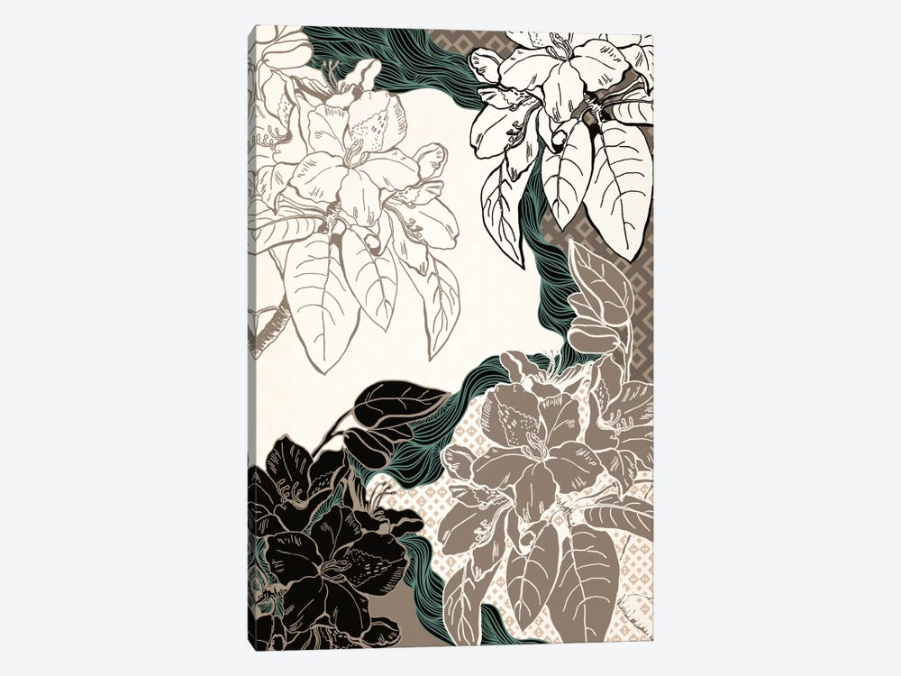 Floral Pattern (Four Colors) by 5by5collective 1-piece Canvas Artwork