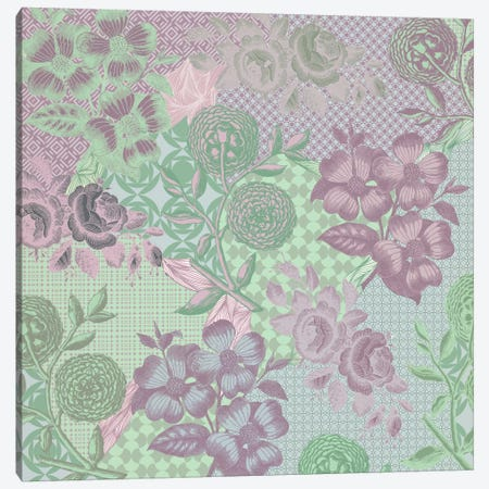 Floral Patterns (Green&Pink) Canvas Print #FLPN129} by 5by5collective Canvas Wall Art
