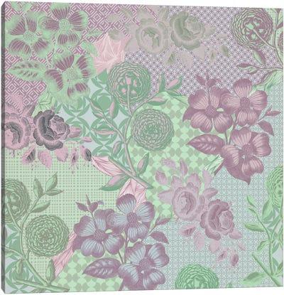 Floral Patterns (Green&Pink) Canvas Print #FLPN129