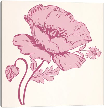 Pink Flower Canvas Art Print