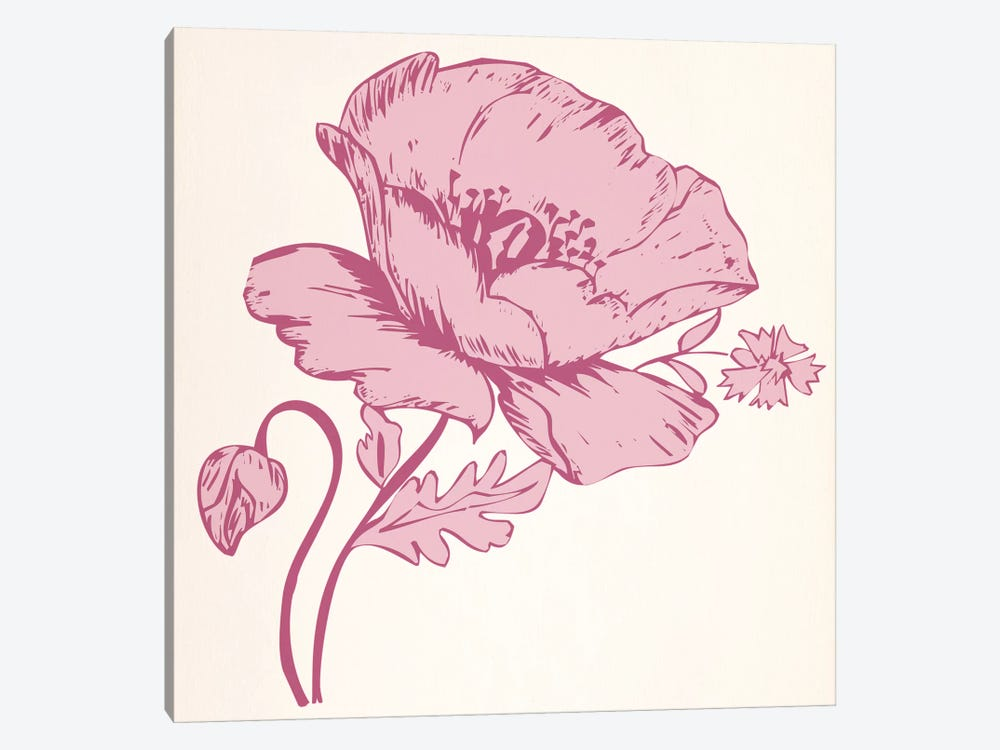 Pink Flower by 5by5collective 1-piece Canvas Art