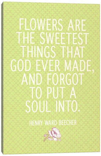 The Sweetest Thing God Ever Made Canvas Print #FLPN136