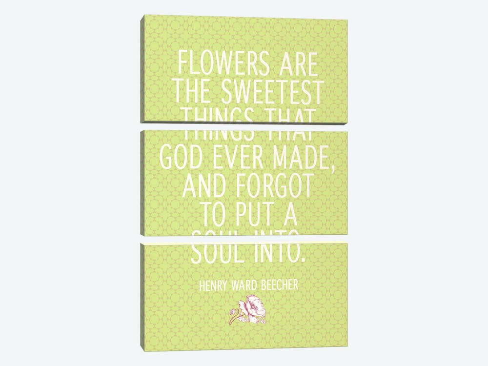 The Sweetest Thing God Ever Made by 5by5collective 3-piece Canvas Art