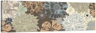 Floral Pattern (Dark Colors) Canvas Art Print