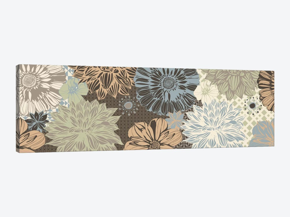 Floral Pattern (Dark Colors) by 5by5collective 1-piece Canvas Print