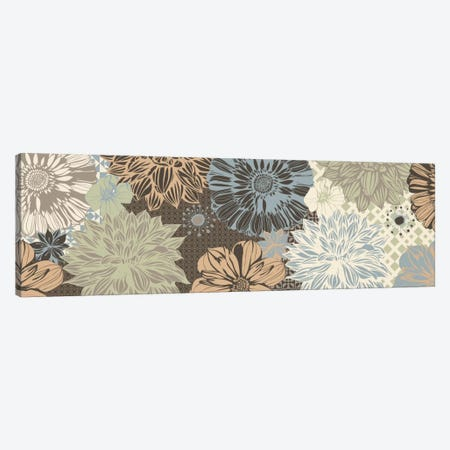 Floral Pattern (Dark Colors) Canvas Print #FLPN137} by 5by5collective Canvas Artwork