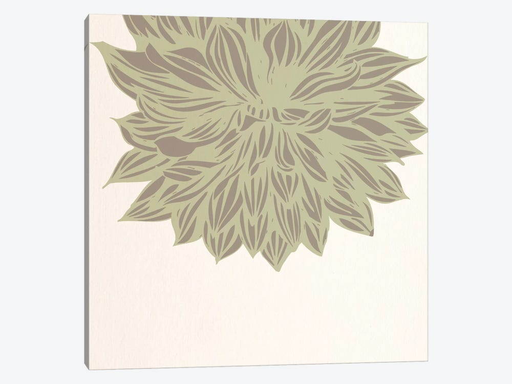 Chrysanthemum (Green) by 5by5collective 1-piece Canvas Art