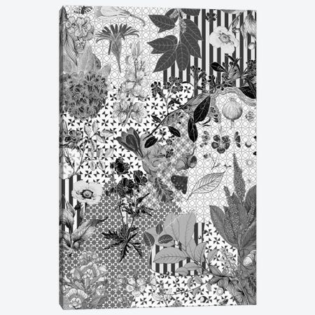 Flower Pattern (Black&White) Canvas Print #FLPN13} by 5by5collective Canvas Print